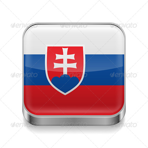 GraphicRiver Metal Icon of Slovakia 7466117