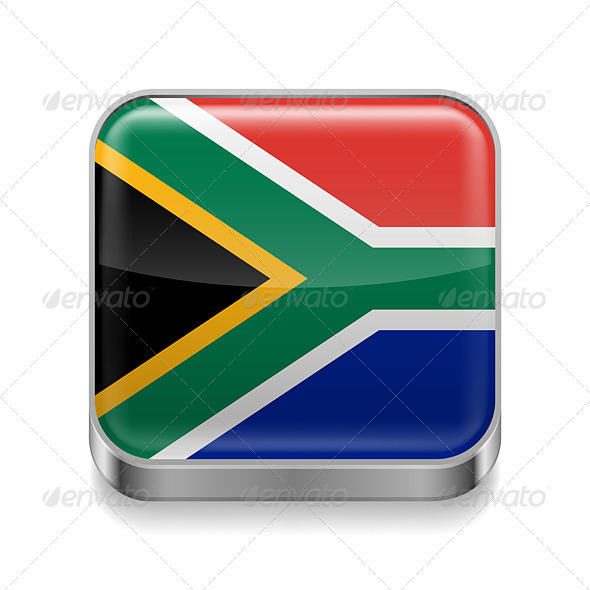 GraphicRiver Metal Icon of South Africa 7466177