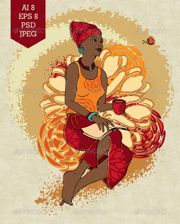 GraphicRiver African Woman 7466487