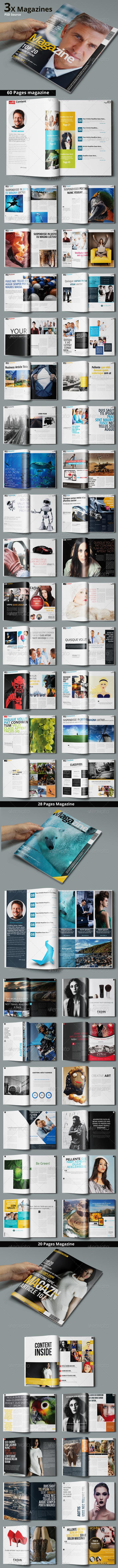 GraphicRiver Multipurpose Magazine Bundle Photoshop PSD 7466589