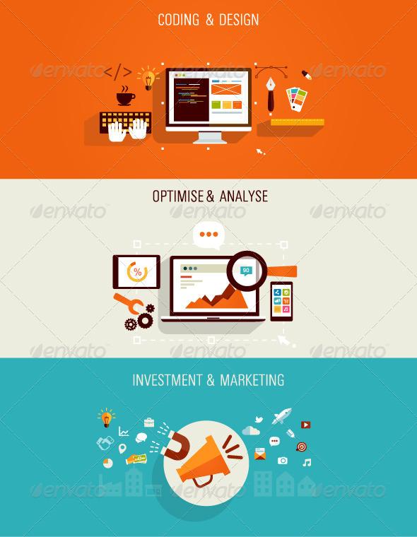 GraphicRiver Web Development and Internet Marketing Concept 7466844
