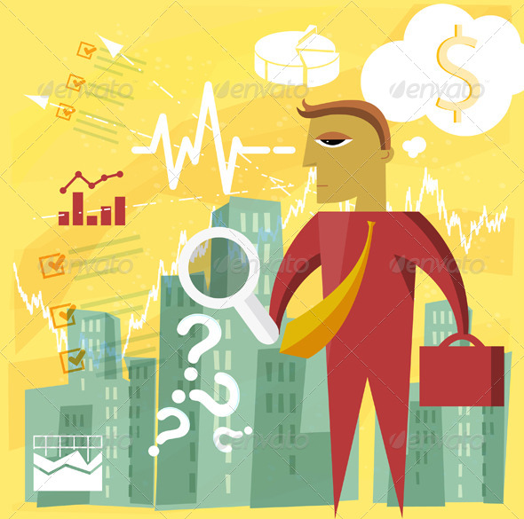 GraphicRiver Finding Business Opportunities Illustration 7466950