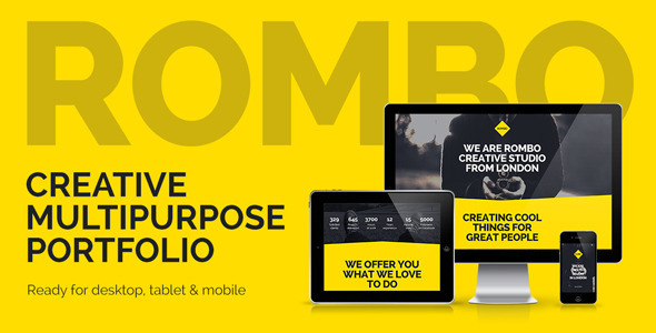 Rombo - Multipurpose Portfolio Muse Template - Creative Muse Templates