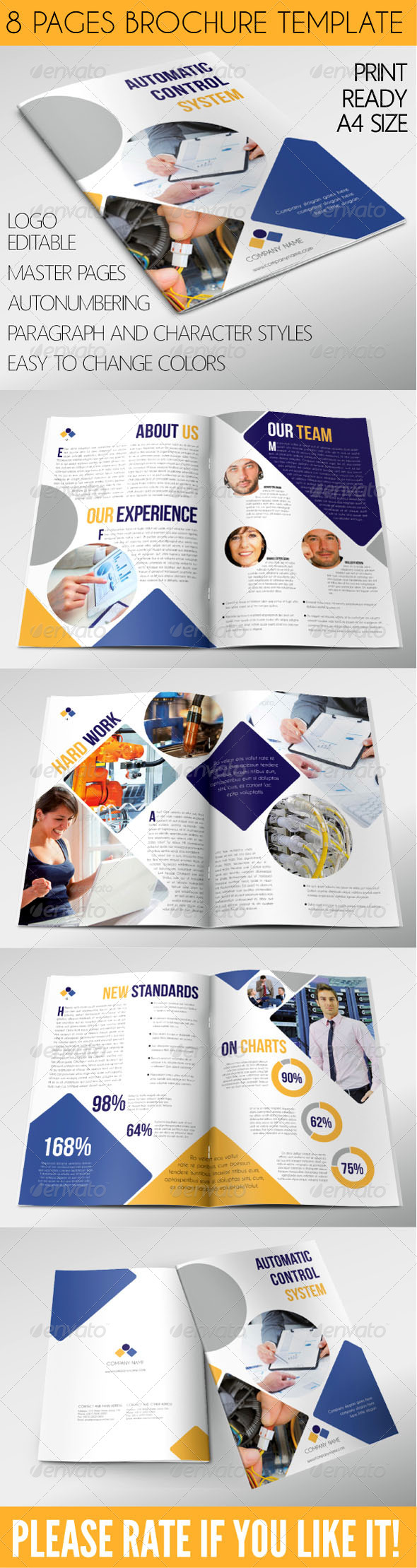 GraphicRiver Corporate Brochure 8 Pages A4 7459837
