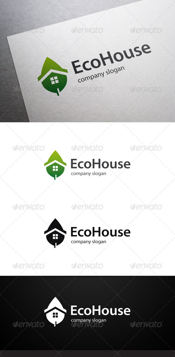 GraphicRiver Eco House Logo 7467784