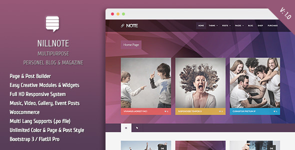 ThemeForest Nillnote Multipurpose Personel Blog Magazine 7415820