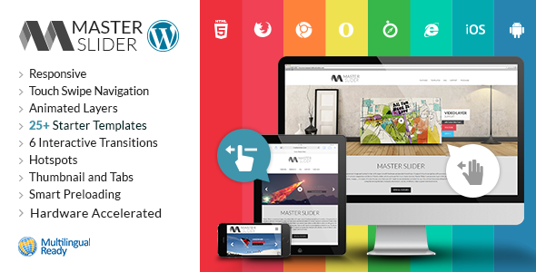 خرید Master Slider - WordPress Responsive Touch Slider