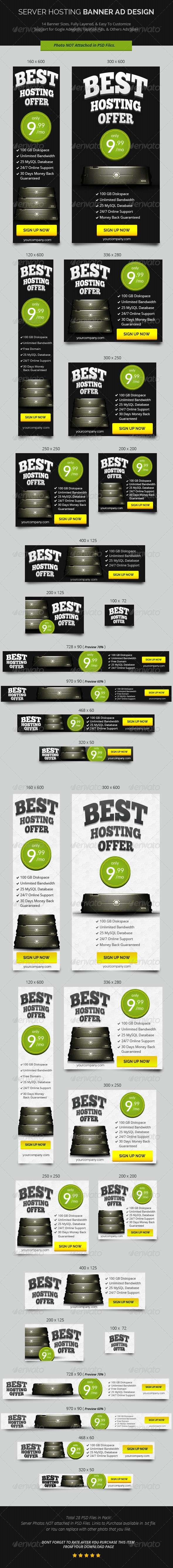 GraphicRiver Best Hosting Offer Banner ad Design 7467958