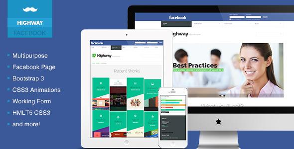 ThemeForest Highway Creative & Multipurpose Facebook Templat 7467995