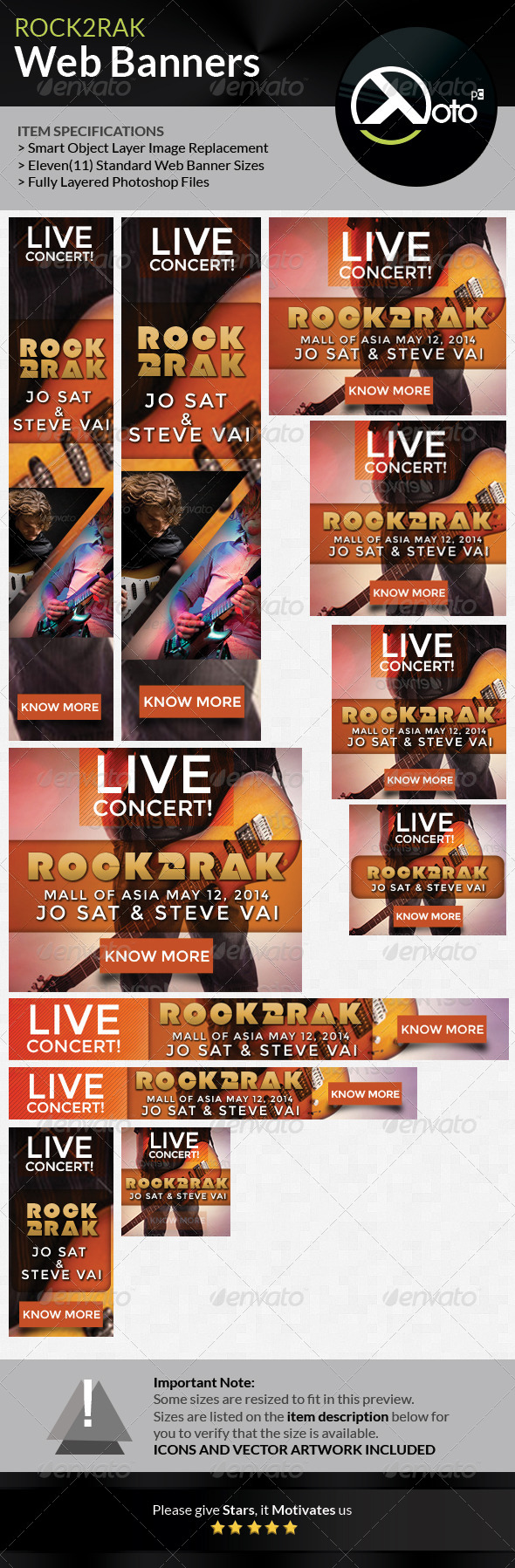 GraphicRiver Rock to Rak Concert Web Banners 7468775