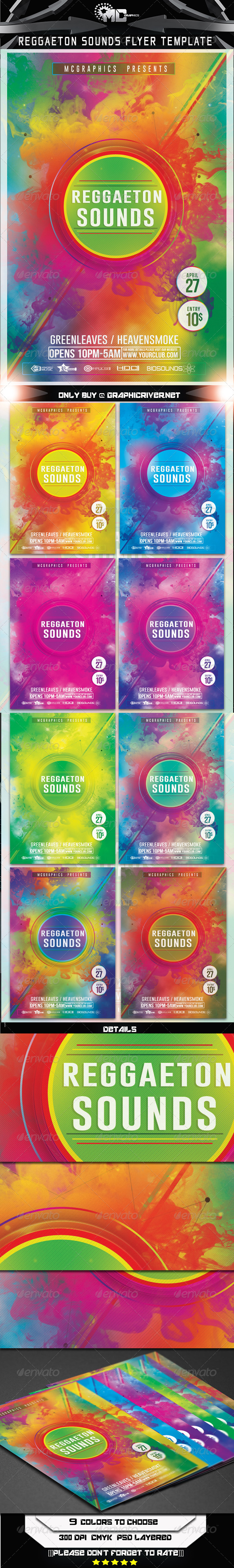GraphicRiver Reggaeton Flyer Template 7468931
