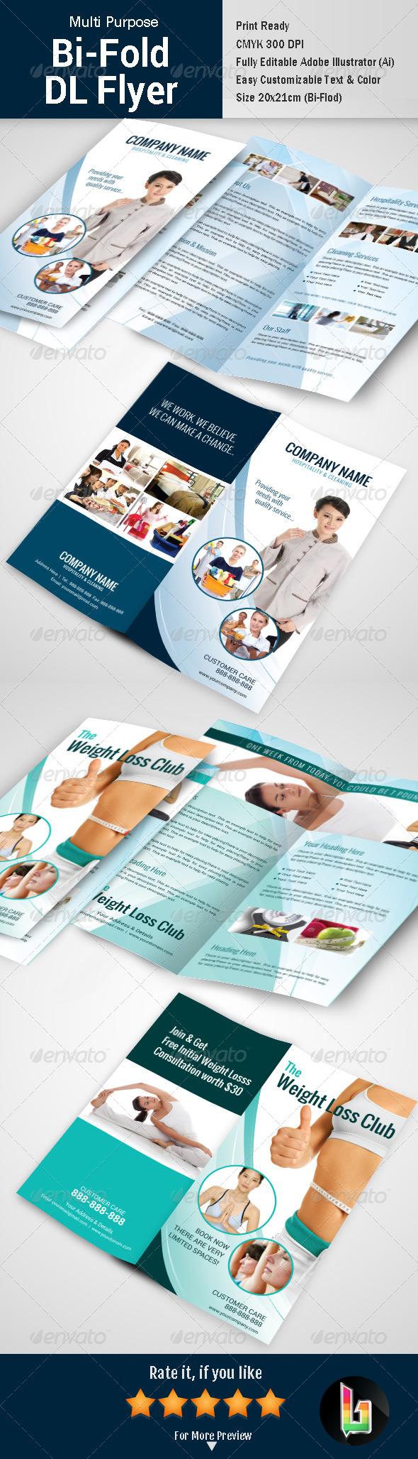 GraphicRiver Multipurpose Bi-fold DL Flyer 7469042