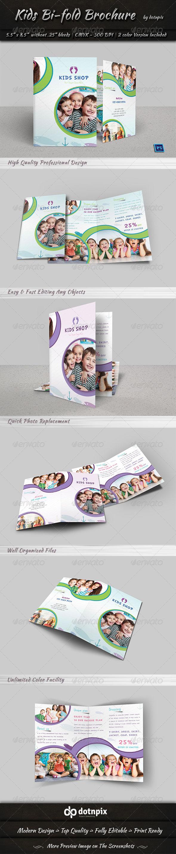 GraphicRiver Kids Bi-Fold Brochure 7469284
