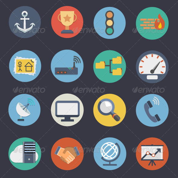 GraphicRiver Flat Icons for Web and Applications Set 3 7469312