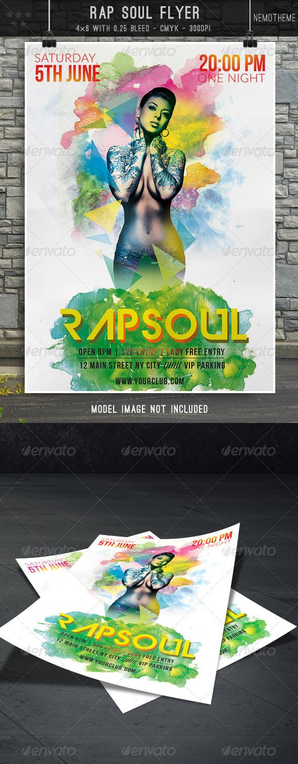 GraphicRiver Rap Soul Flyer 7460765