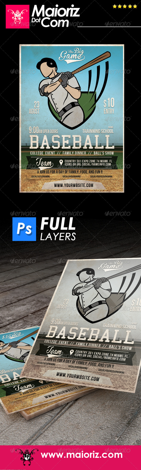 GraphicRiver Indie Baseball Flyer 7469463