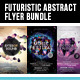 Futuristic Abstract Electronic Vol.2 Flyer Bundle - GraphicRiver Item for Sale