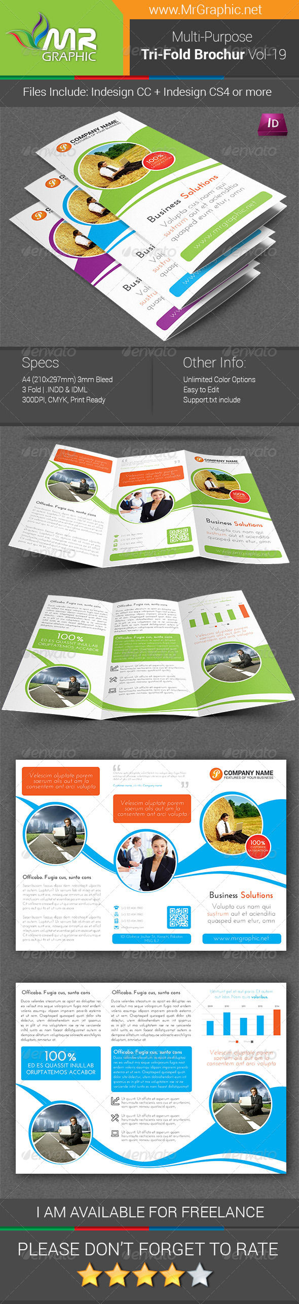 GraphicRiver Multipurpose Business Tri-Fold Brochure Vol-19 7469787