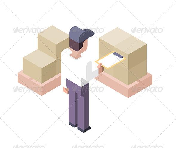 GraphicRiver Cargo Checking Distribution Center 7470300
