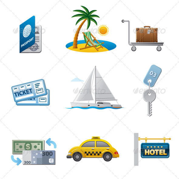 GraphicRiver Tourism Icon Set 7470366