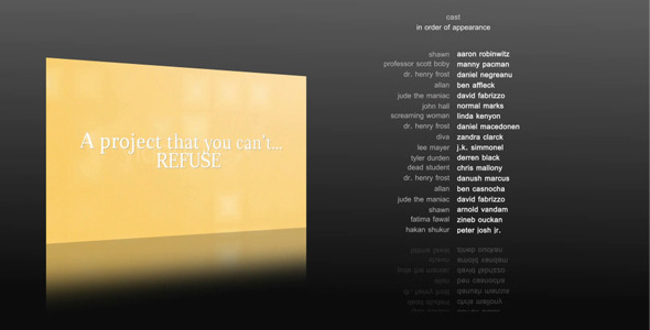 [VideoHive 770597] 10 Film Credits | After Effects Project