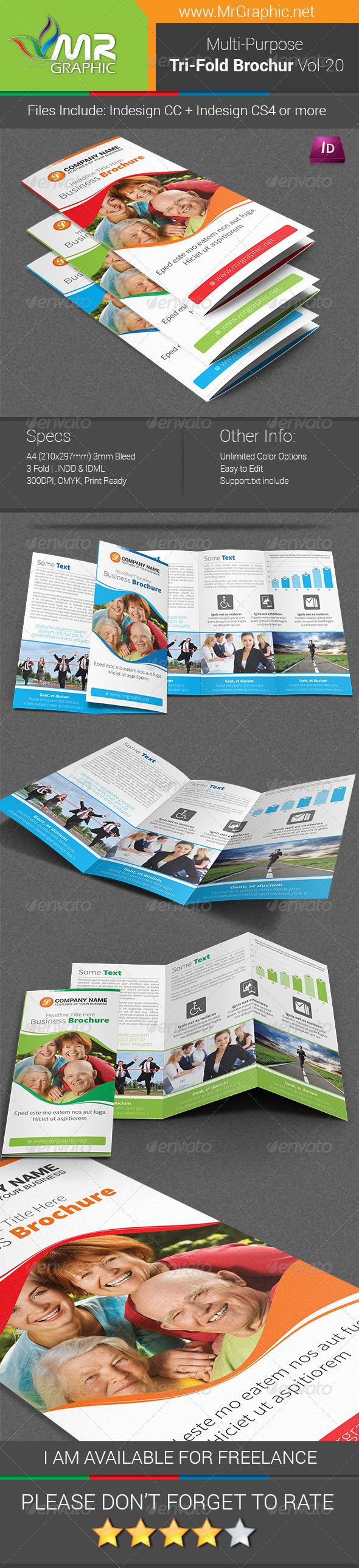 GraphicRiver Multipurpose Business Tri-Fold Brochure Vol-20 7470737