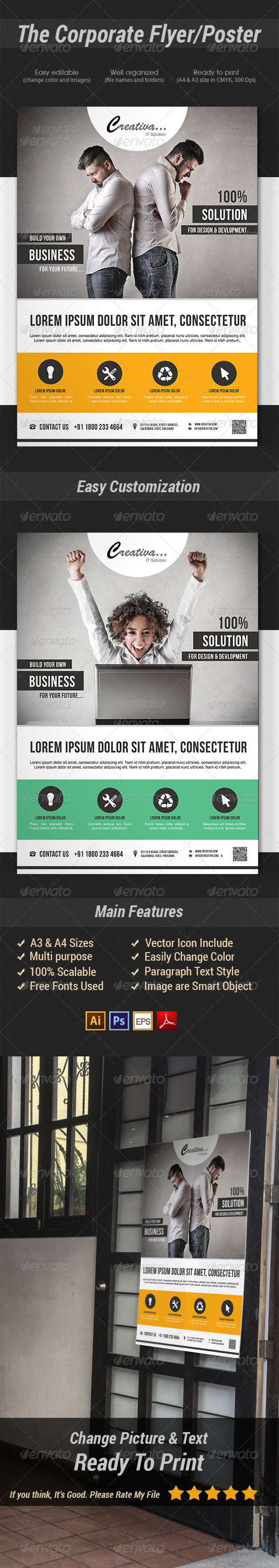 GraphicRiver The Corporate Flyer Poster 7459270
