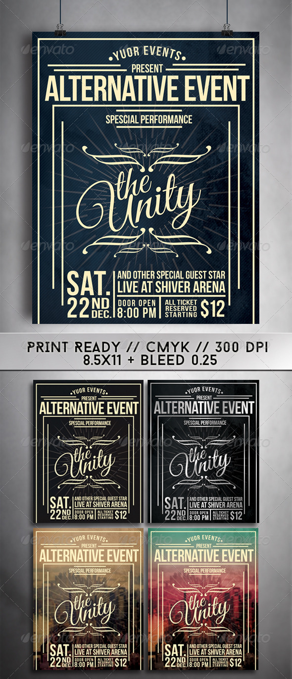 GraphicRiver Vint Flyer Template 7470865