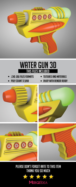 3DOcean Water Gun 3D 7470950