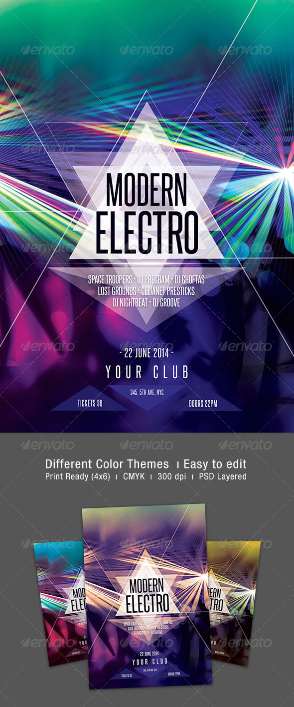 GraphicRiver Modern Electro Flyer 7471117