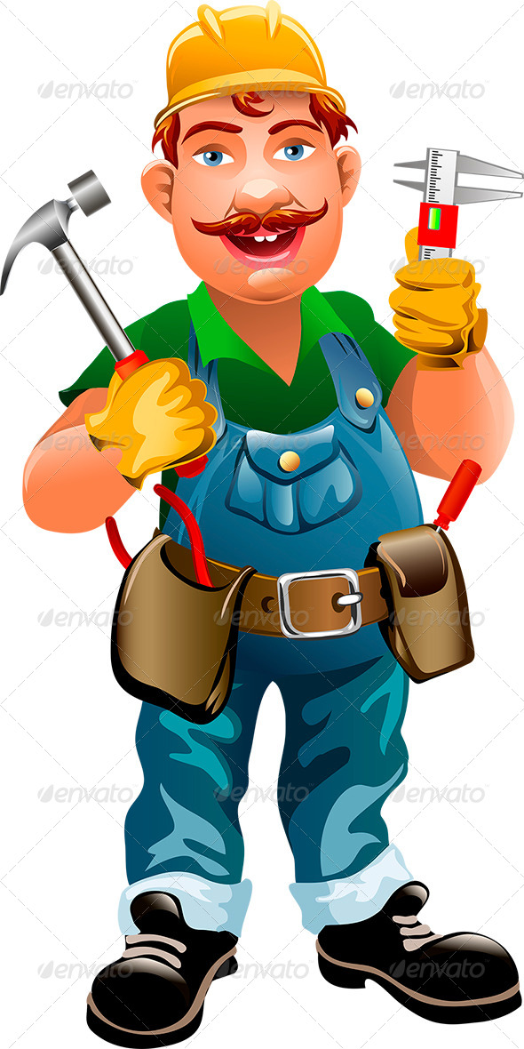 GraphicRiver Smiling Plumber 7471123
