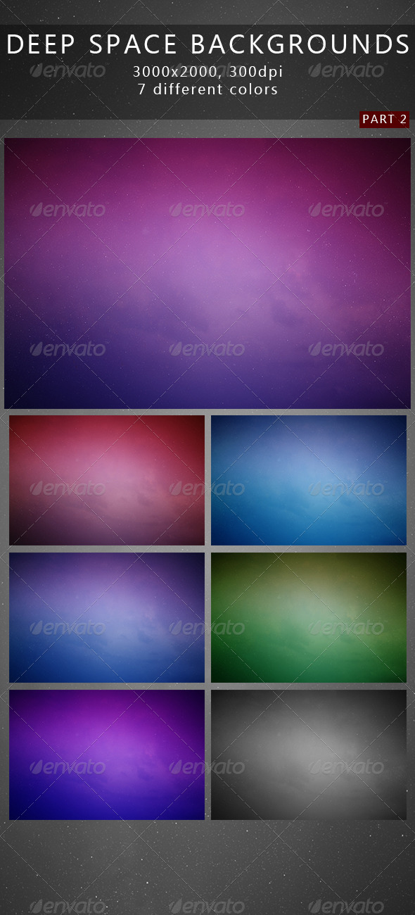 GraphicRiver Deep Space Backgrounds 2 7472055