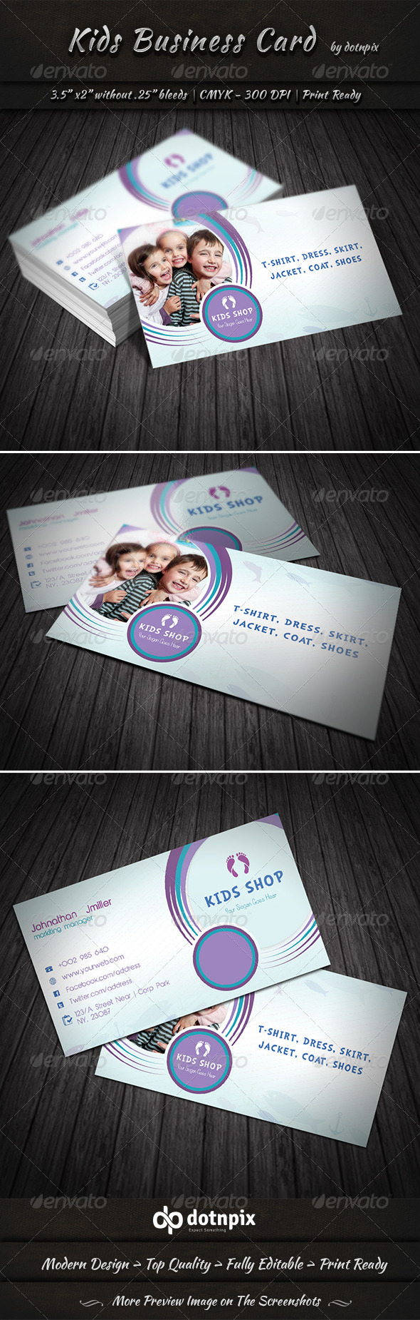GraphicRiver Kids Business Card 7472215