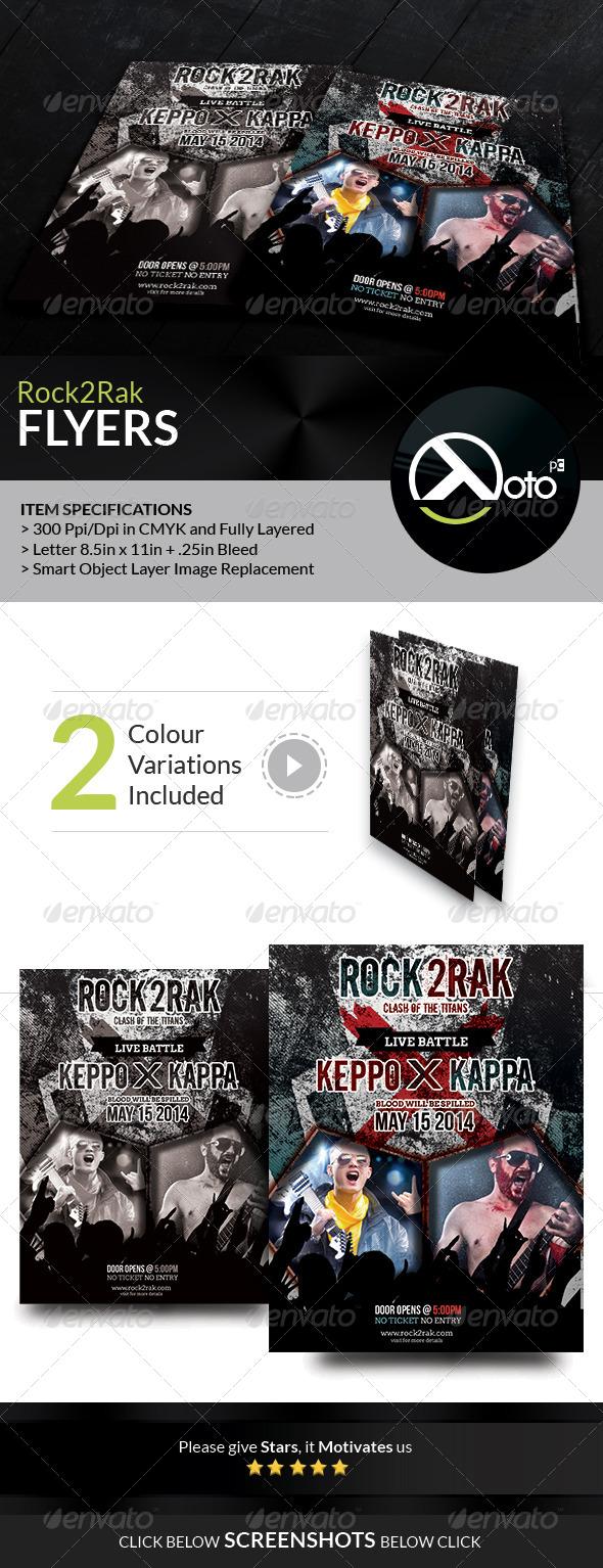GraphicRiver Rock to Rak Concert Clash Flyers 7472257