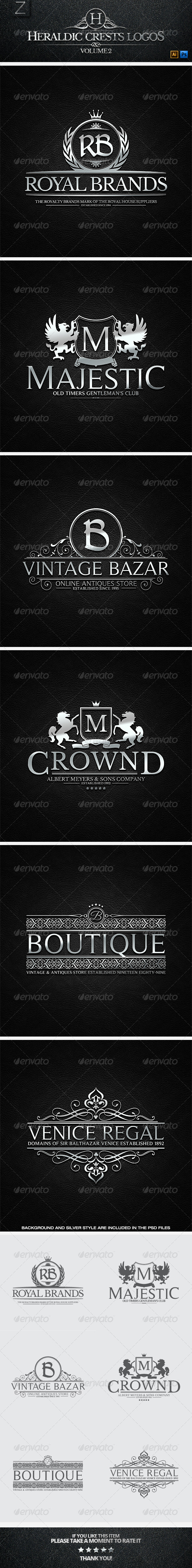 GraphicRiver Crest Logos Vol.2 7472402