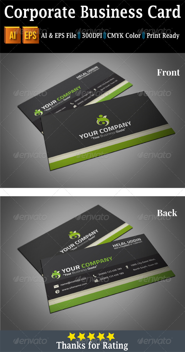 GraphicRiver Corporate Business Card 7472880