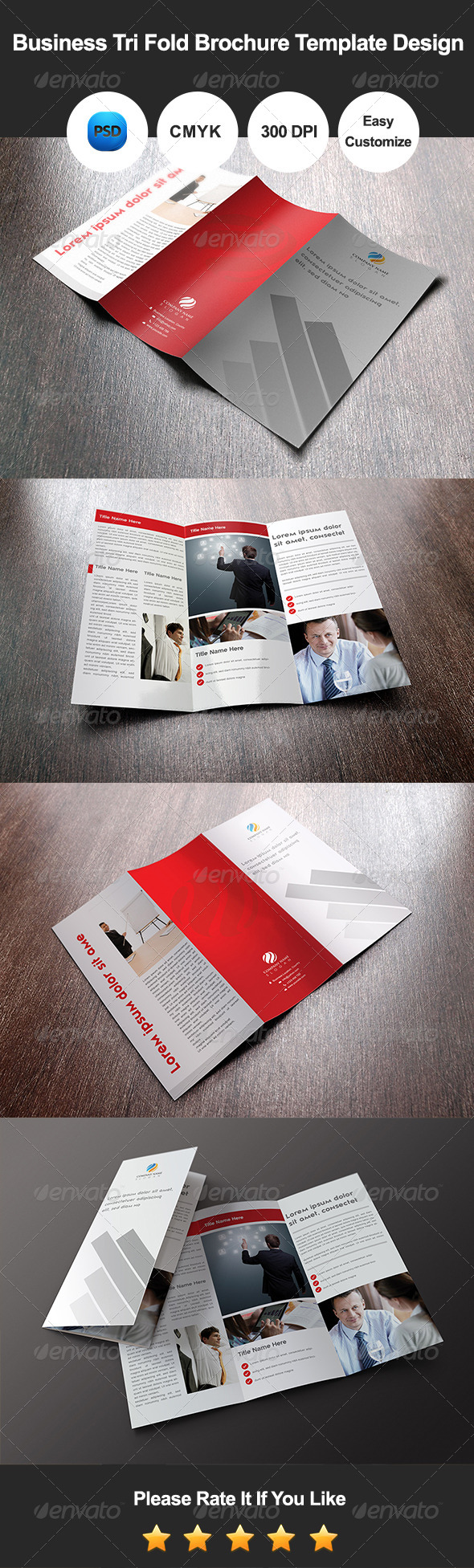 GraphicRiver Business Tri Fold Brochure Template Design 7474847