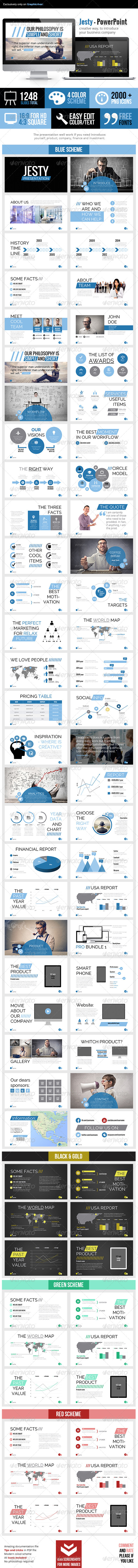 GraphicRiver Jesty Powerpoint Presentation 7474862