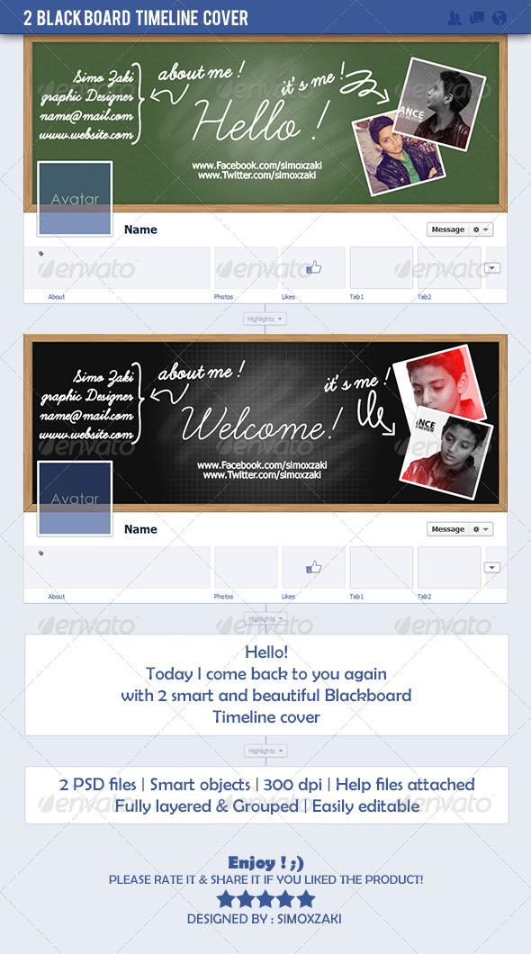 GraphicRiver 2 Blackboard timeline cover 7475038