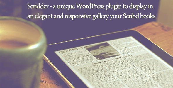 Scridder - Responsive Books Gallery - CodeCanyon Item for Sale