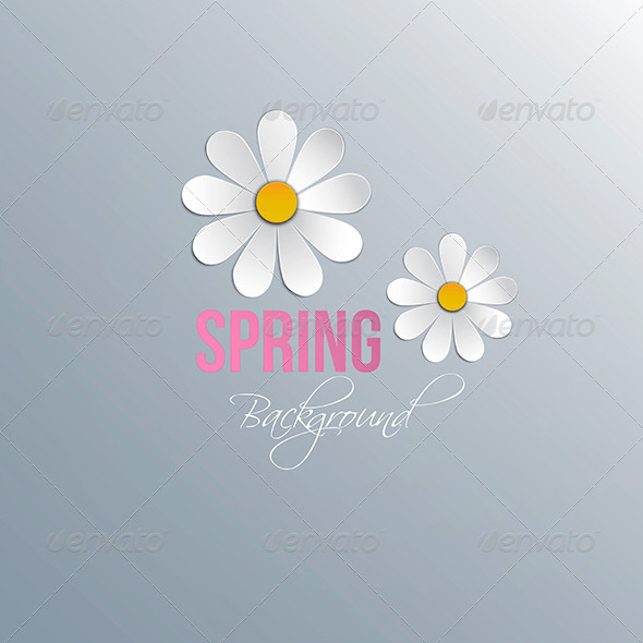 GraphicRiver Abstract Spring Background with Paper Flowers 7475984