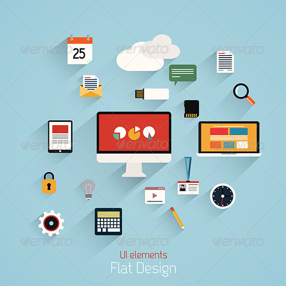 GraphicRiver Flat Design Set 7476008