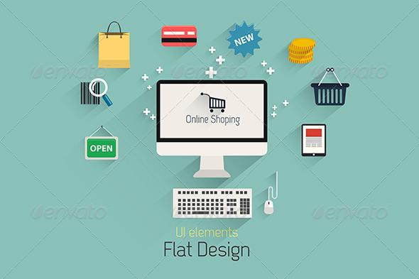 GraphicRiver Flat Design Set 7476030