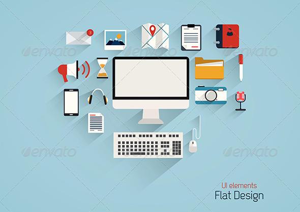 GraphicRiver Flat Design Set 7476031