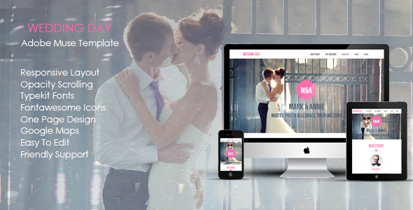 ThemeForest Wedding Day Muse Template 7476033