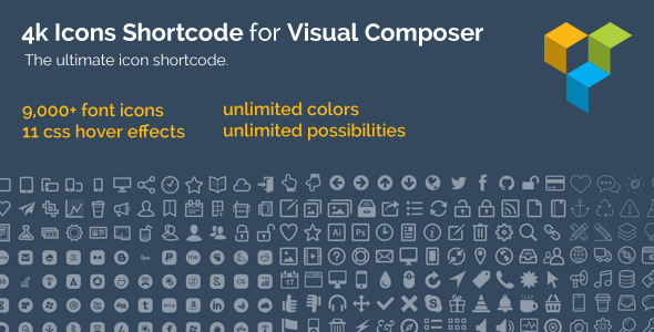 4k Icon Fonts for Visual Composer - CodeCanyon Item for Sale
