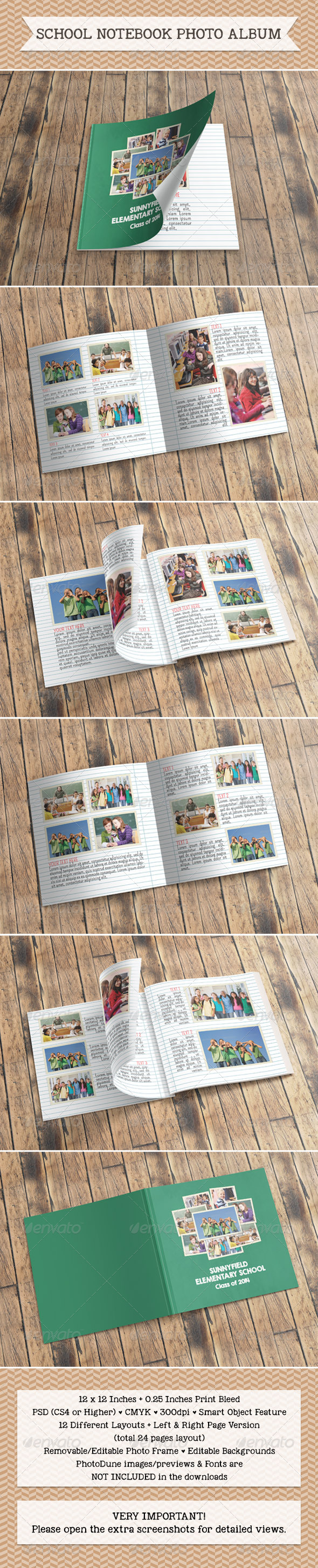 GraphicRiver School Notebook Photo Album 7476299