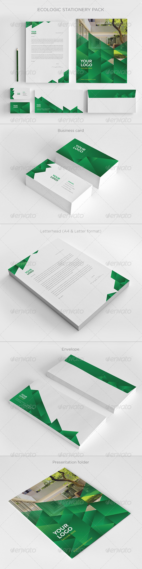 GraphicRiver Ecologic Stationery Pack 7476303