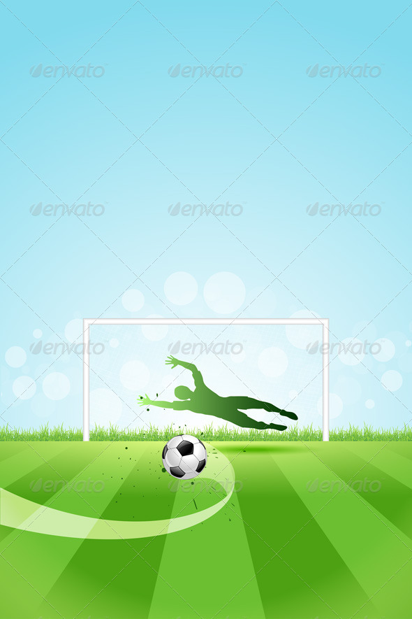 GraphicRiver Soccer Background with Goalkeeper and Ball 7476909