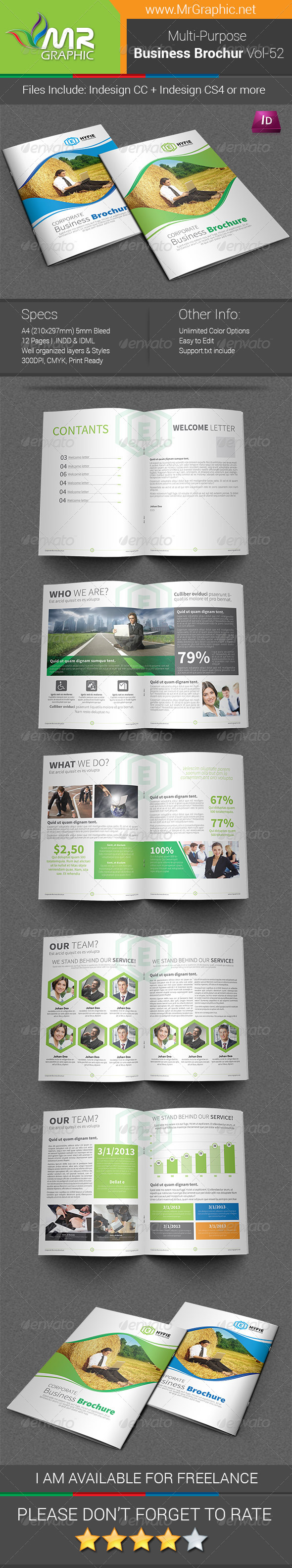 GraphicRiver Multipurpose Business Brochure Template Vol-52 7477019